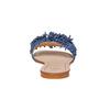 Mule à franges en cuir bleu bata, Violet, 573-9354 - 17