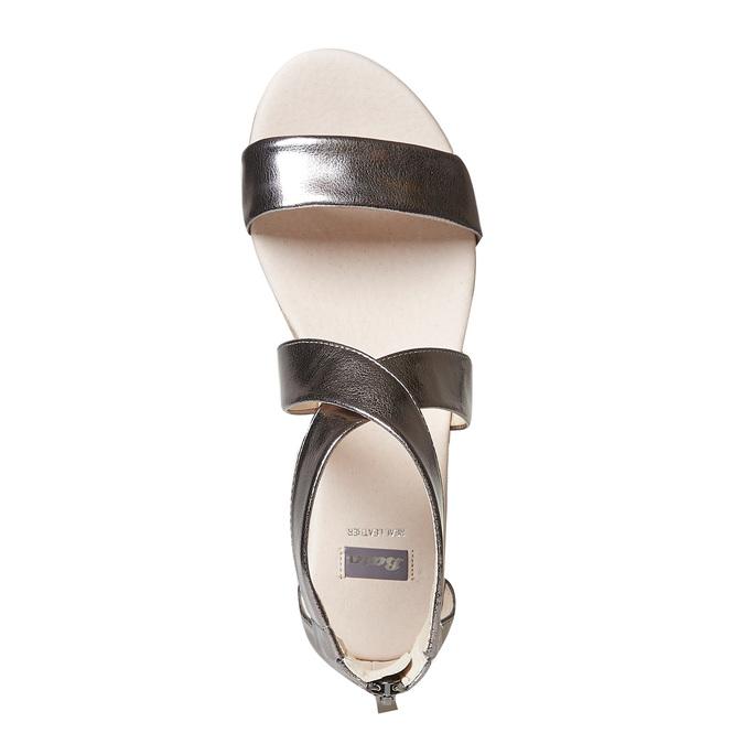 Sandale femme à petit talon compensé bata, Blanc, 561-1505 - 19