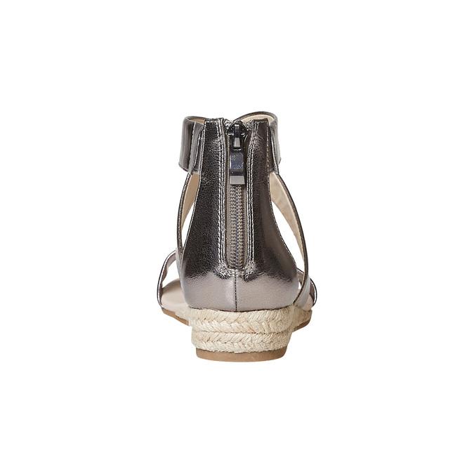 Sandale femme à petit talon compensé bata, Blanc, 561-1505 - 17