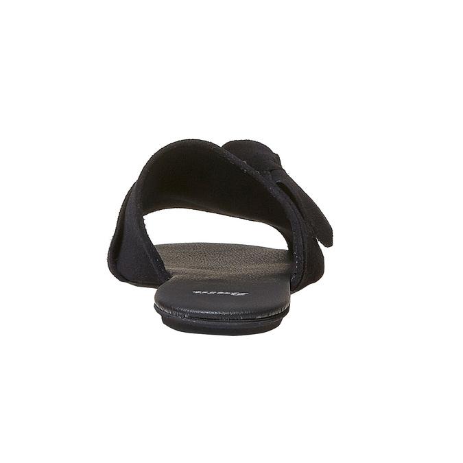 Mule en cuir noire bata, Noir, 563-6411 - 17
