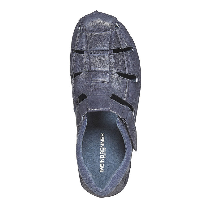 Sandale en cuir homme weinbrenner, Bleu, 864-9267 - 19