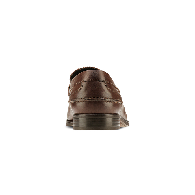 Loafer en cuir homme bata, Brun, 814-4128 - 16