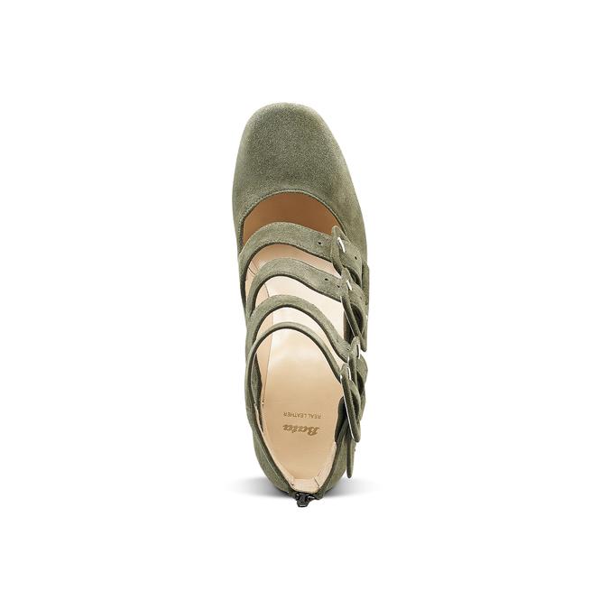Women's shoes bata, Vert, 723-7984 - 15