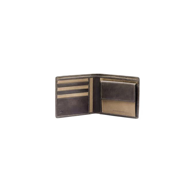 Portefeuille en cuir pour homme bata, Brun, 944-4135 - 16