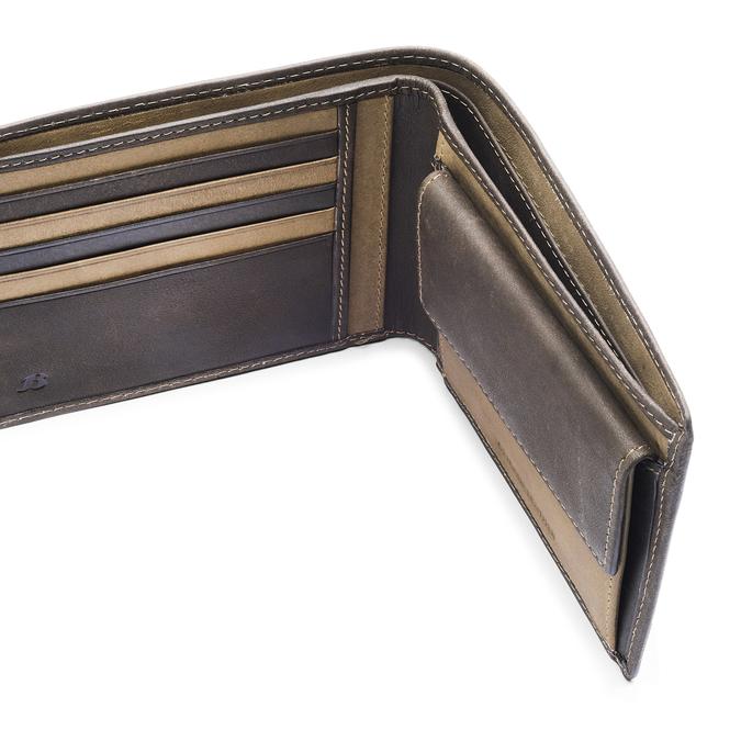 Portefeuille en cuir pour homme bata, Brun, 944-4135 - 15