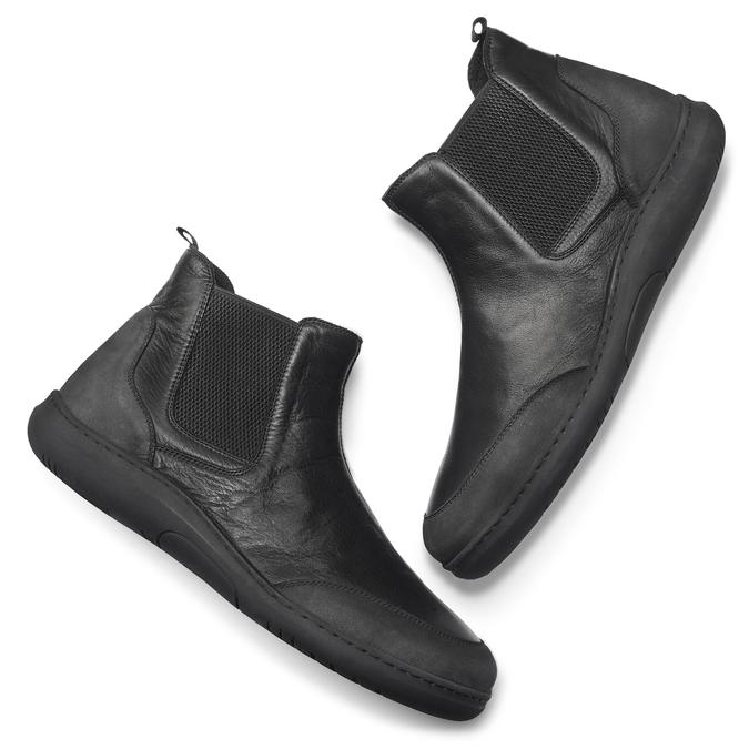 Men's shoes, Noir, 894-6712 - 19