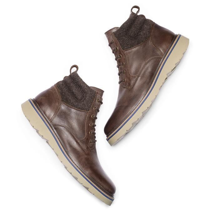 Men's shoes bata, Brun, 894-4731 - 19
