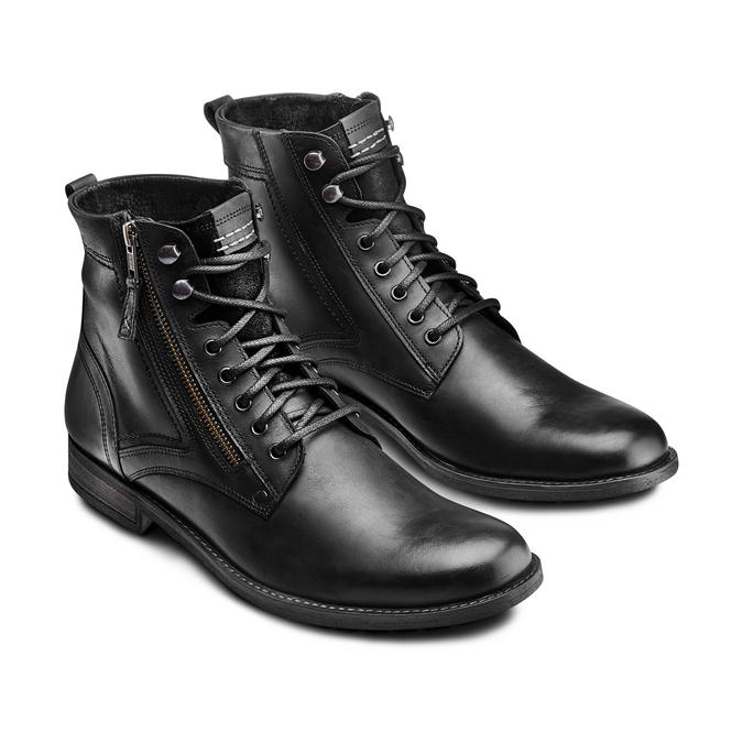 Bottine en cuir bata, Noir, 894-6449 - 16