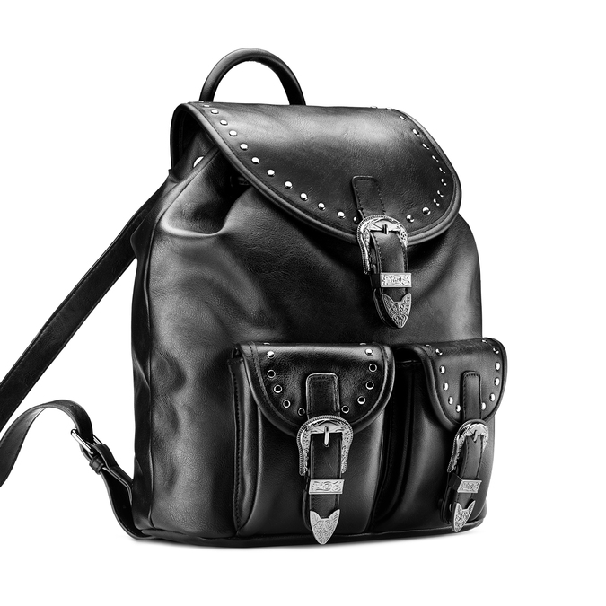 Backpack bata, Noir, 961-6288 - 13