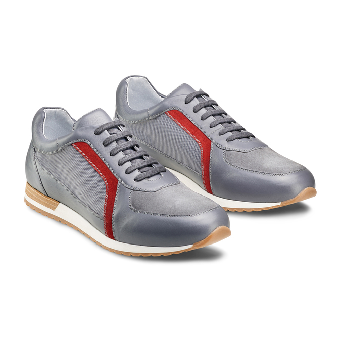 Men's shoes bata, Gris, 844-2142 - 16