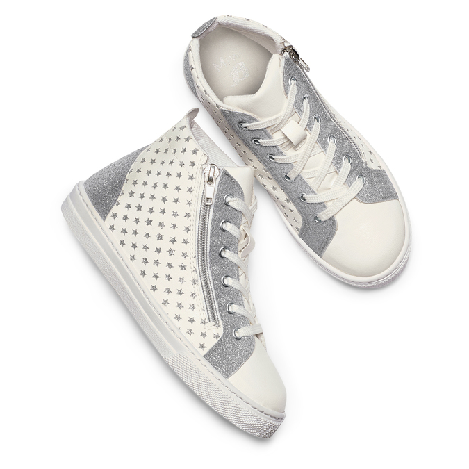 Childrens shoes mini-b, Blanc, 321-1391 - 26