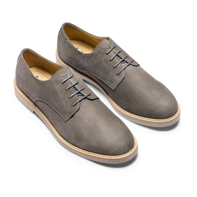 Men's shoes bata-light, Gris, 823-2284 - 16
