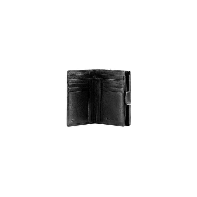 Porte-monnaie en cuir bata, Noir, 944-6117 - 16