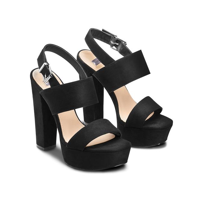 Sandale à talon massif bata, Noir, 769-6541 - 16