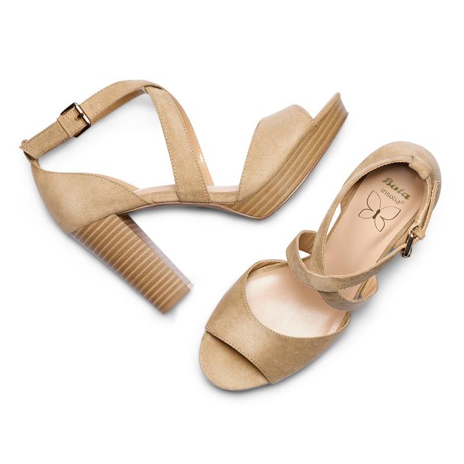 Women's shoes insolia, Jaune, 769-8263 - 26
