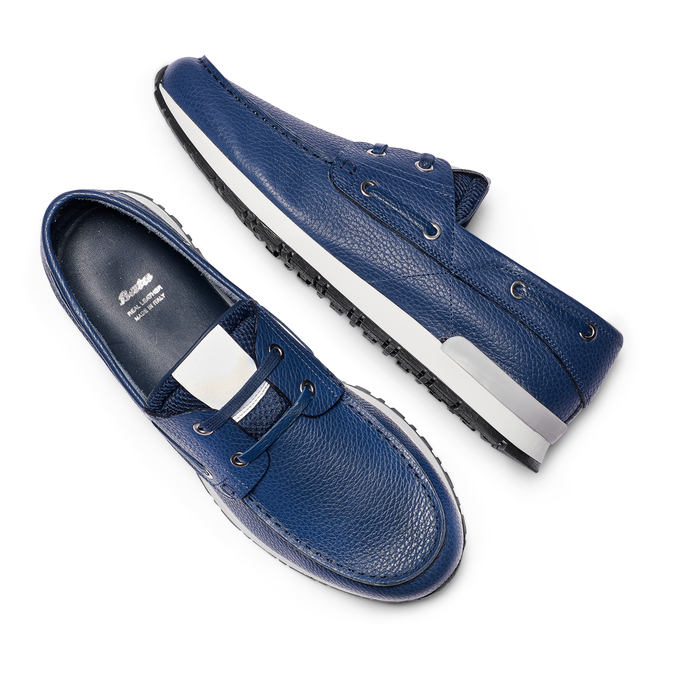 Men's shoes bata, Bleu, 844-9399 - 26