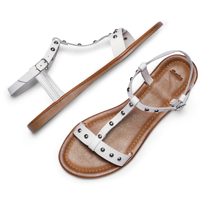 Women's shoes bata, Blanc, 564-1211 - 26