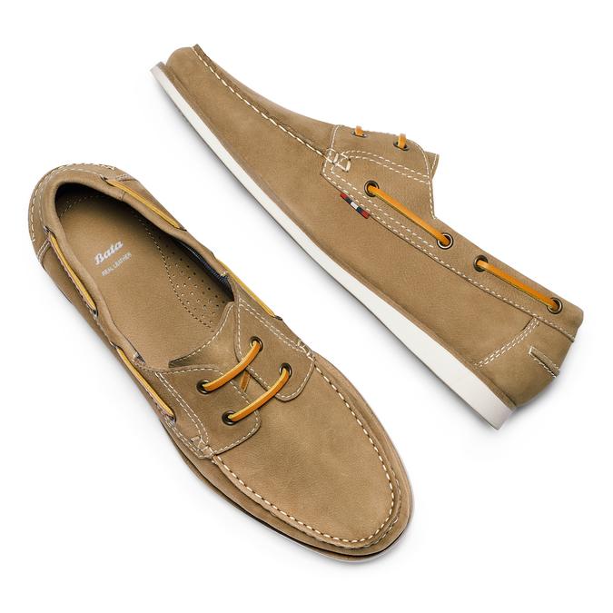 Men's shoes bata, Beige, 854-8142 - 26