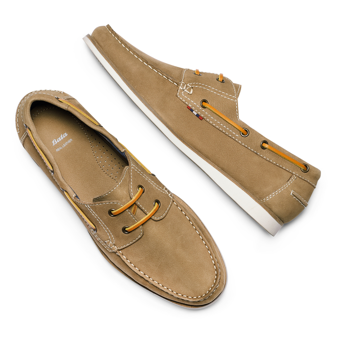 Men's shoes bata, Jaune, 854-8142 - 26