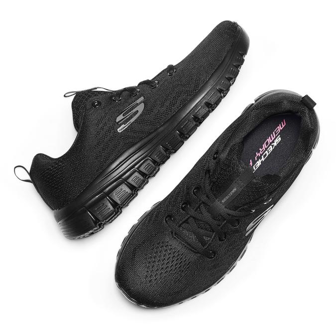 Chaussures Femme skechers, Noir, 509-6318 - 19