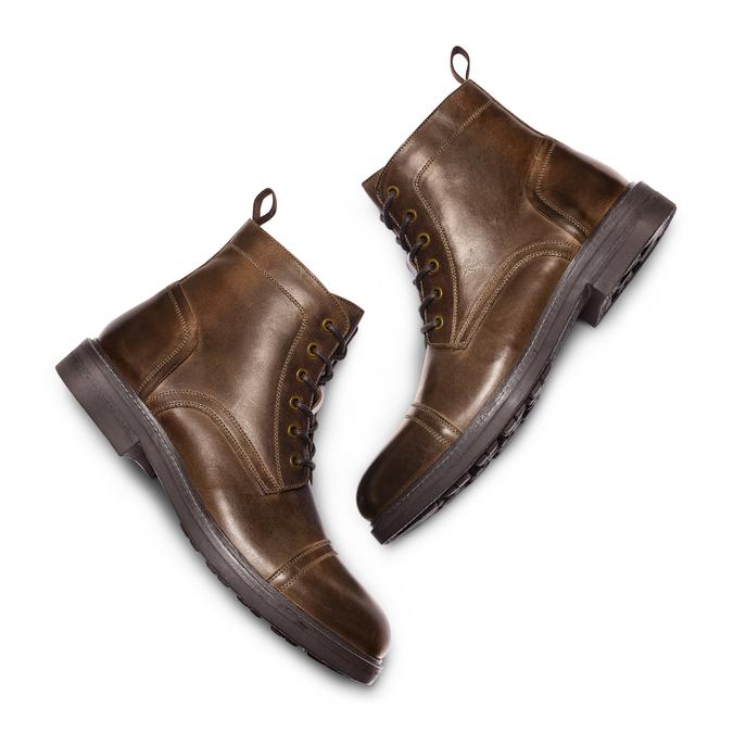 Men's shoes bata, Brun, 894-4323 - 26