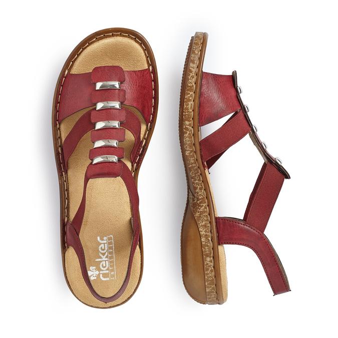 RIEKER Chaussures Femme rieker, Rouge, 661-5194 - 16