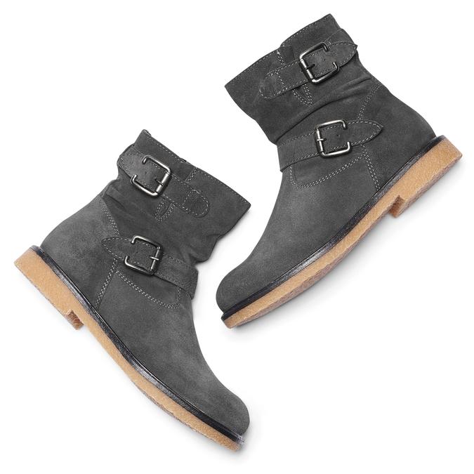 Childrens shoes mini-b, Gris, 393-2426 - 19