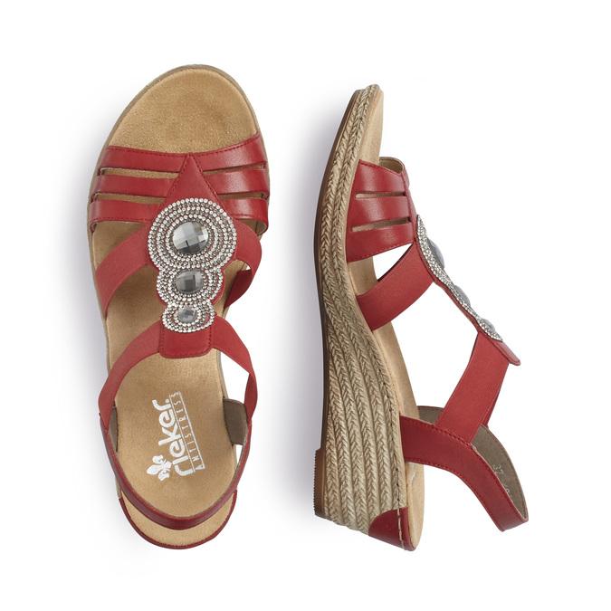 RIEKER Chaussures Femme rieker, Rouge, 661-5331 - 16