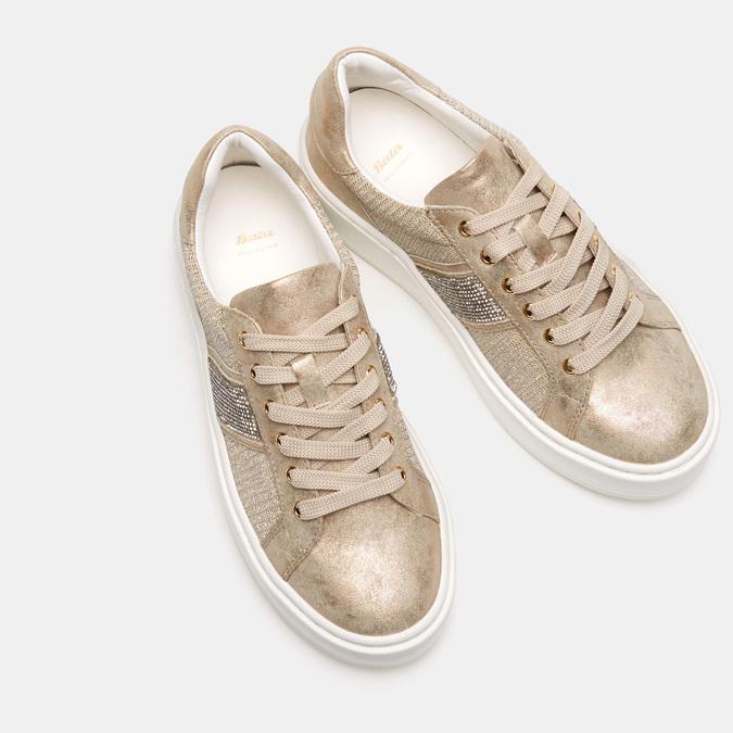 Chaussures Femme bata, Or, 549-8551 - 19