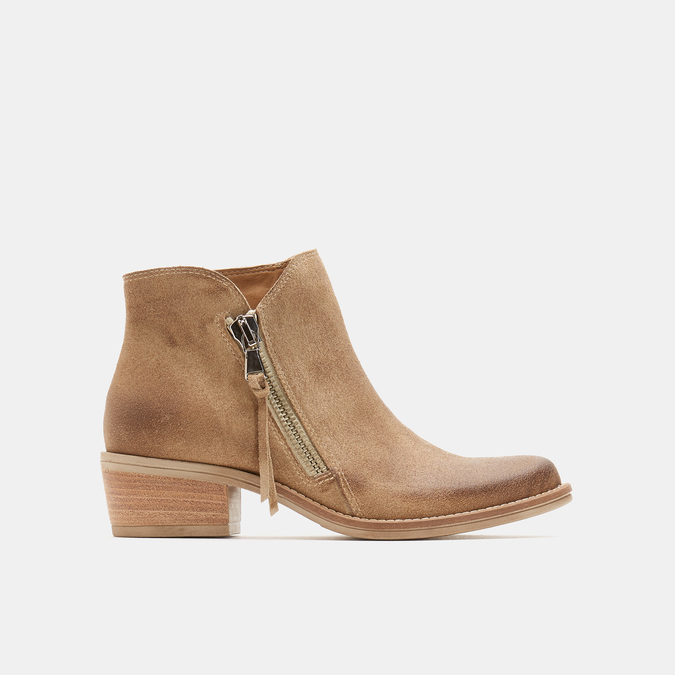 Bottines femme type cow-boy bata, Brun, 693-4566 - 13