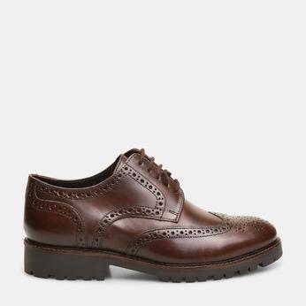 chaussures basses en cuir à surpiqûre brogue bata, Brun, 824-4133 - 13