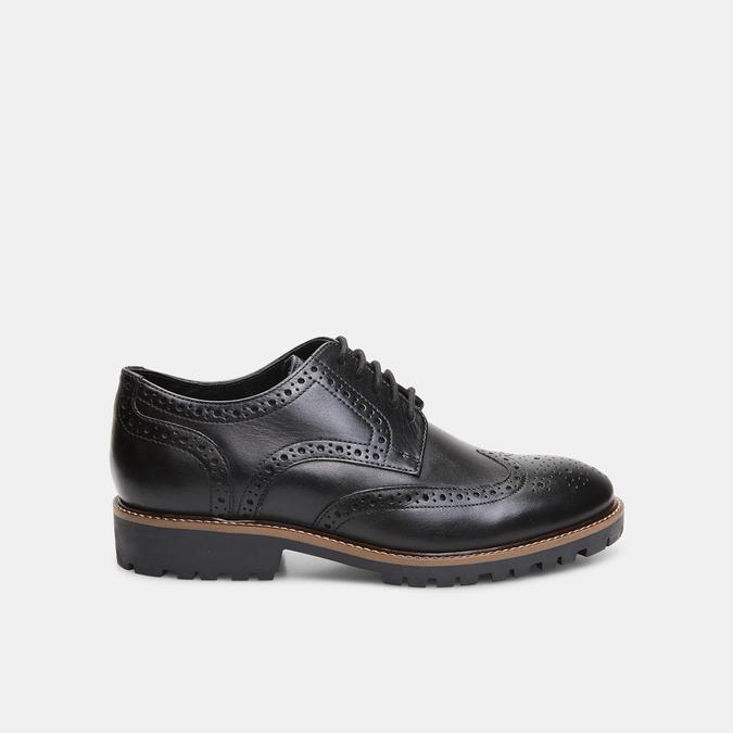 chaussures basses en cuir à surpiqûre brogue bata, Noir, 824-6133 - 13