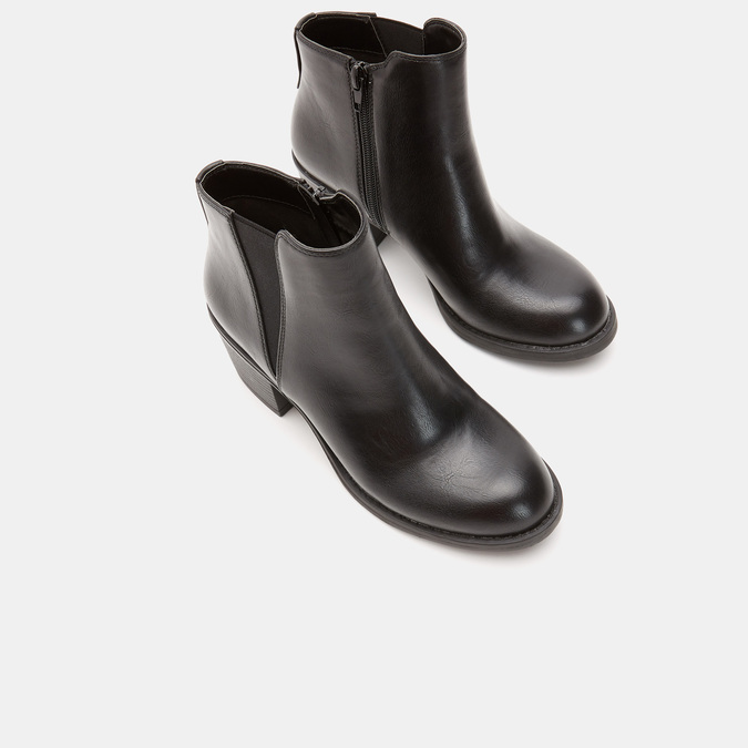 Bottines sur talon bata, Noir, 791-6561 - 16