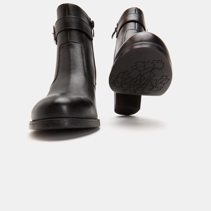 Bottines sur talon bata, Noir, 791-6560 - 19