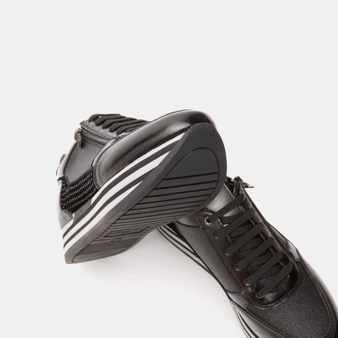 Baskets avec semelle plateforme bata, Noir, 641-6101 - 19