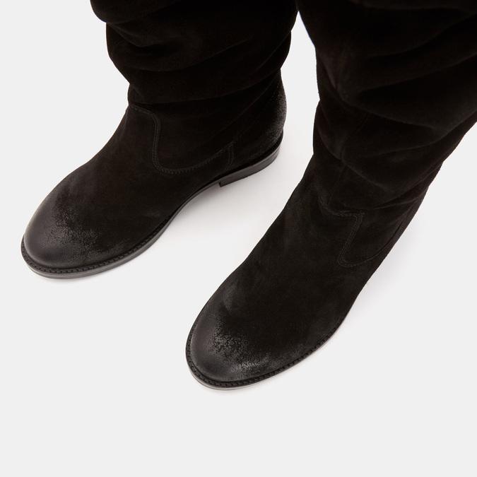 Bottes en suédine bata, Noir, 593-6584 - 19