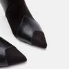 Bottines en pointe de type tronchetto bata, Noir, 791-6298 - 26