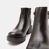 Bottines en cuir de type tronchetto sur talon large bata, Noir, 794-6763 - 19