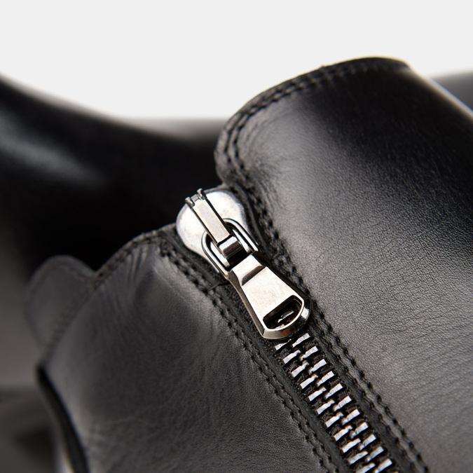 Bottines en cuir de type tronchetto sur talon large bata, Noir, 794-6763 - 26