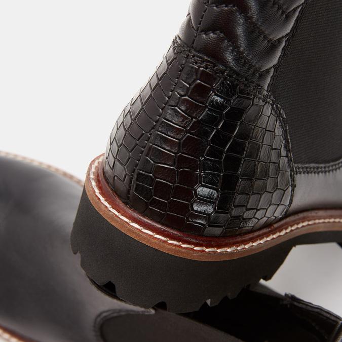 Bottines en cuir Chelsea bata, Noir, 594-6819 - 26