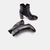 Bottines en cuir de type tronchetto sur talon large bata, Noir, 794-6731 - 19