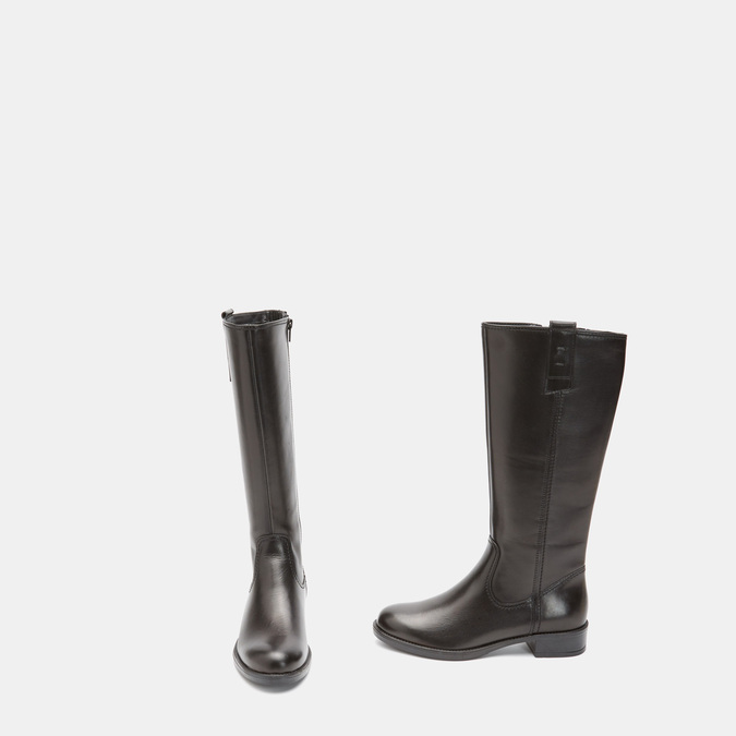 Bottes en cuir bata, Noir, 594-6373 - 16
