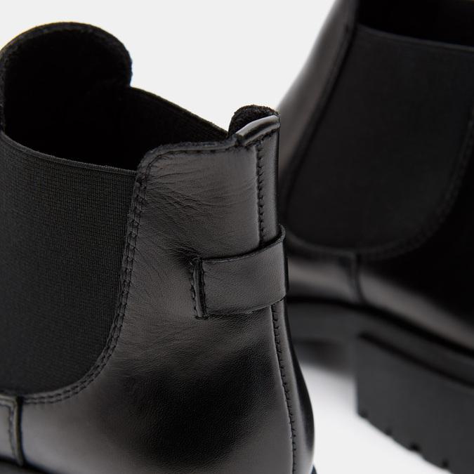 Bottines en cuir Chelsea bata, Noir, 694-6490 - 26