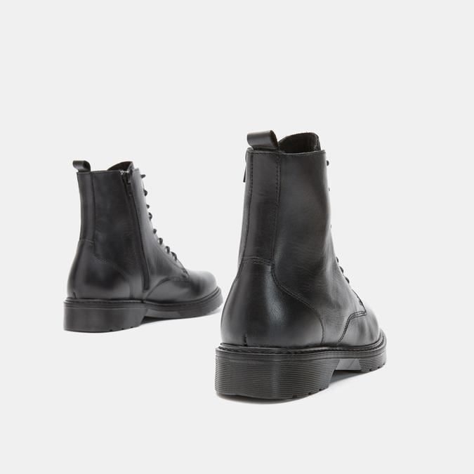 Bottines en cuir bata, Noir, 594-6382 - 15