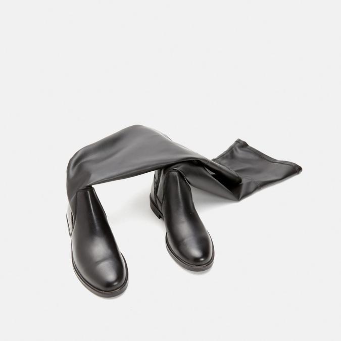 Cuissardes en cuir bata, Noir, 594-6269 - 15