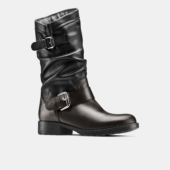 Bottes en cuir bata, Noir, 694-6548 - 13
