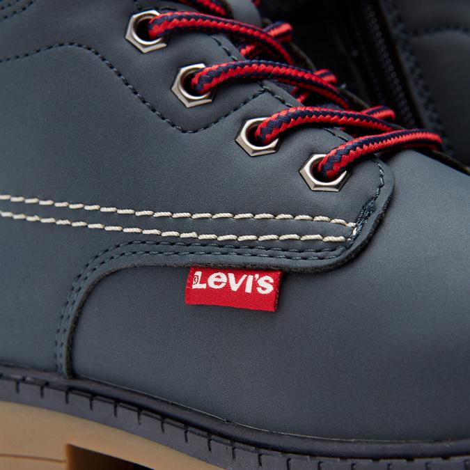 bottines hautes Levi's garçon à semelle track levis, Bleu, 391-9175 - 16