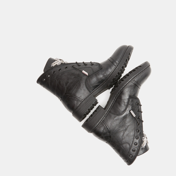 Rangers avec insertions décoratives bata, Noir, 591-6291 - 17
