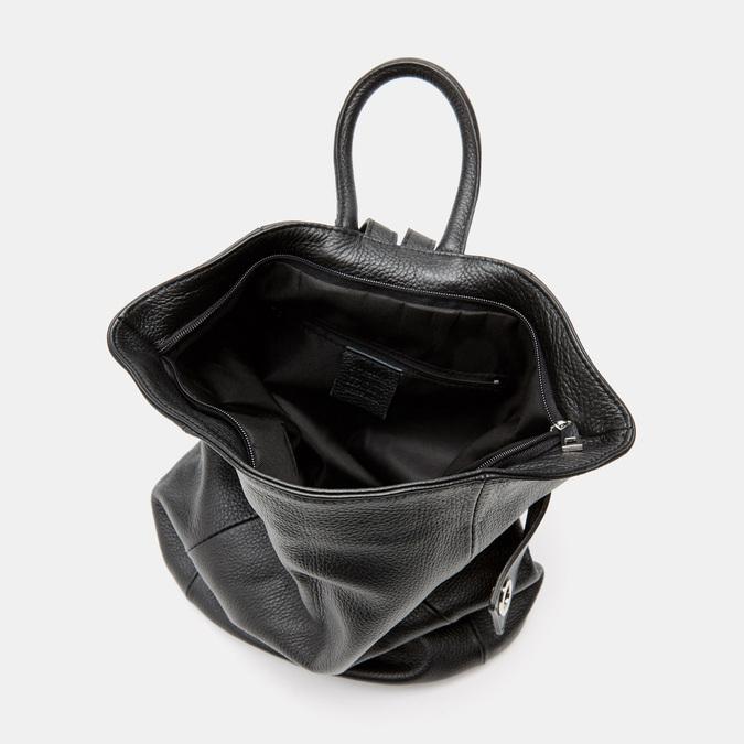 Sac à dos en cuir bata, Noir, 964-6360 - 15