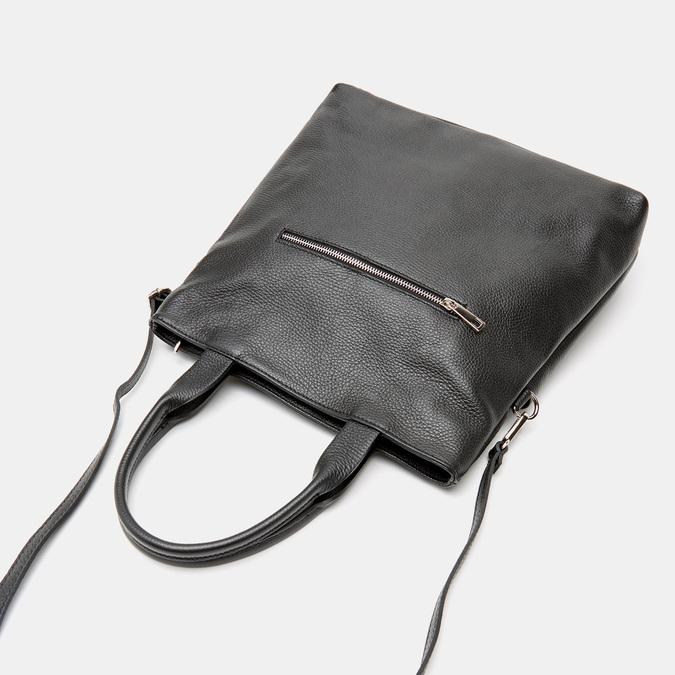 Cabas en cuir bata, Noir, 964-6338 - 16
